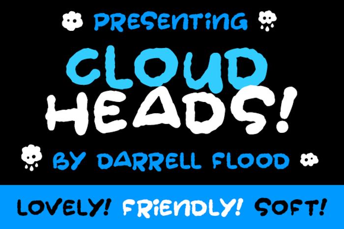 Cloudheads Font poster