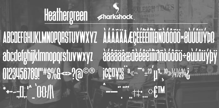 Heathergreen Font poster