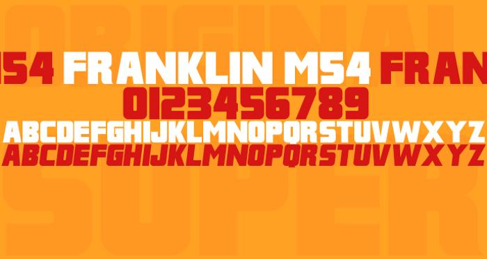 Franklin M54 Font poster