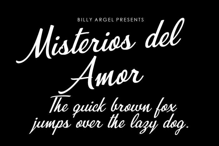 Misterios del Amor Font poster