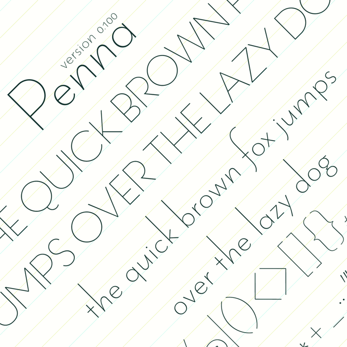 Penna Font poster