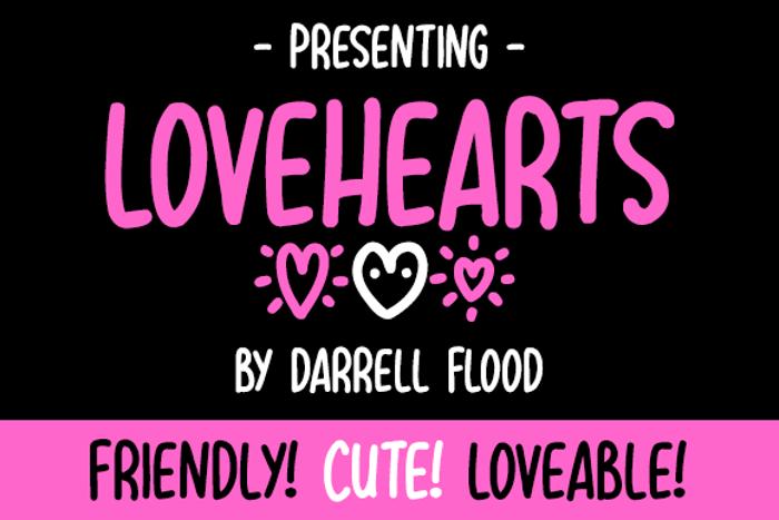 Lovehearts XYZ Font poster