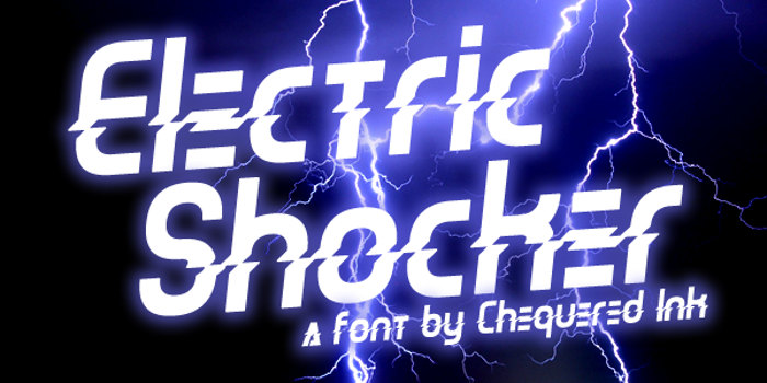 Electric Shocker Font poster