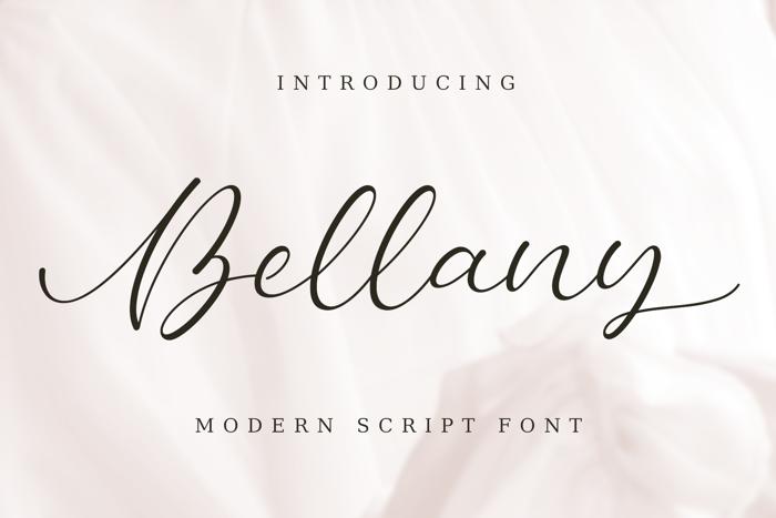 Bellany | Modern Script Font poster