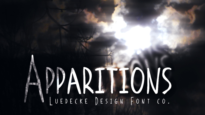 Apparitions Font poster