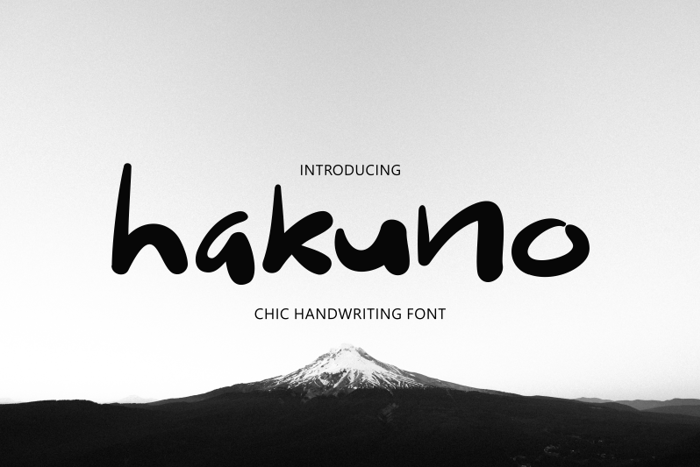 hakuno Font poster