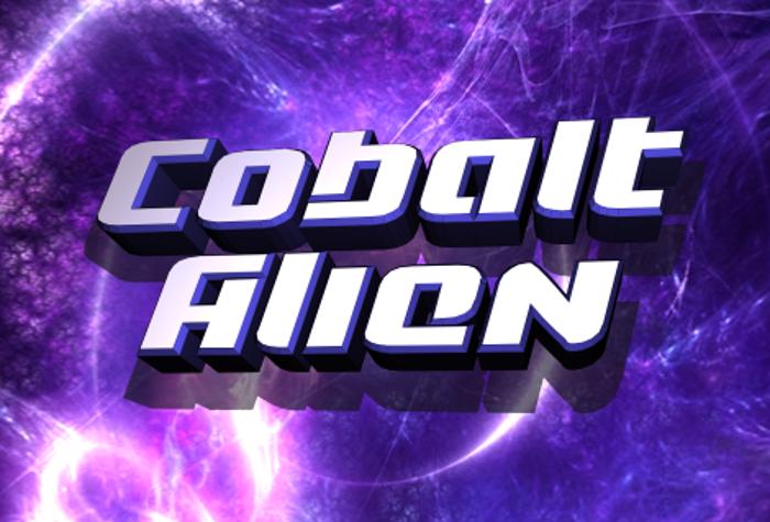 Cobalt Alien Font poster
