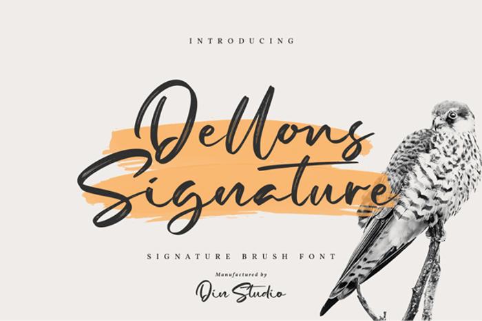 Dellons Signature Font poster