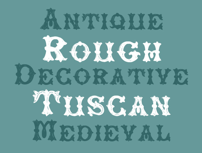 RoughTuscan Font poster