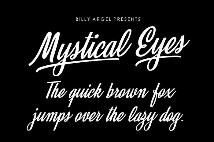 Mystical Eyes Font poster