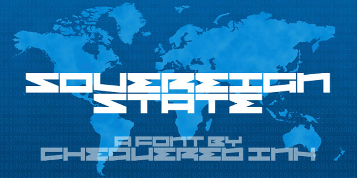 Sovereign State Font poster