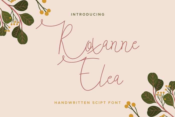 Roxanne Elea Font poster