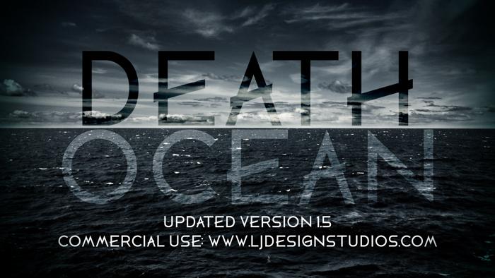 DEATH OCEAN Font poster