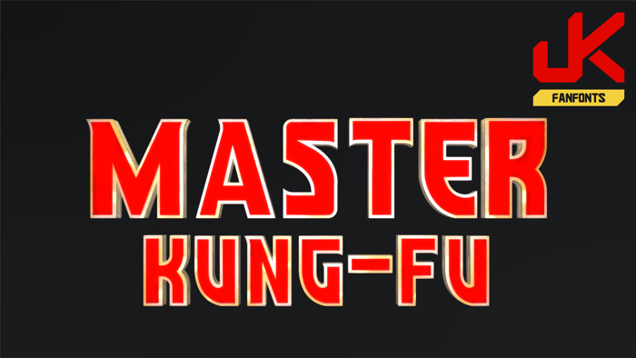 Master Kung-Fu Font poster