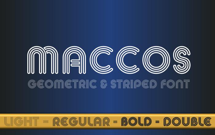 MACCOS Demo Font poster