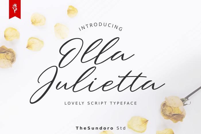 Olla Julietta Font poster