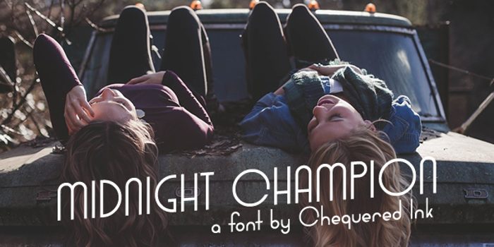 Midnight Champion Font poster