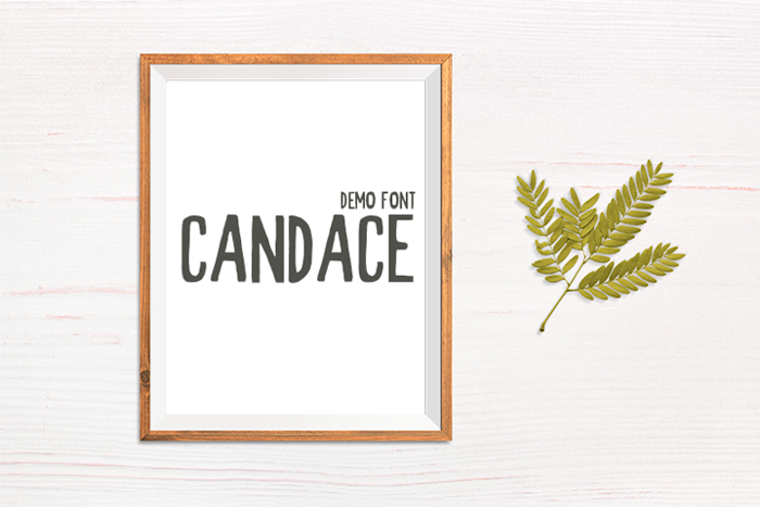 Candace Font poster