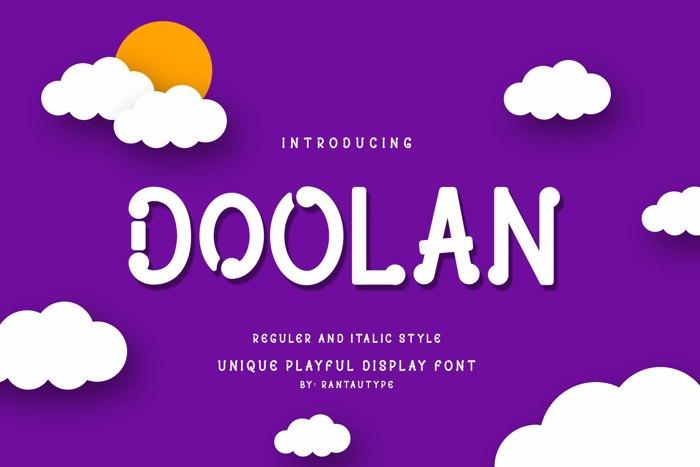 DOOLAN Font poster