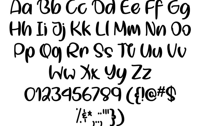 Smol Kitty Boi Font poster