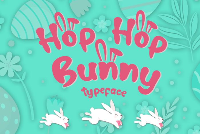 Hop Hop Bunny Font poster