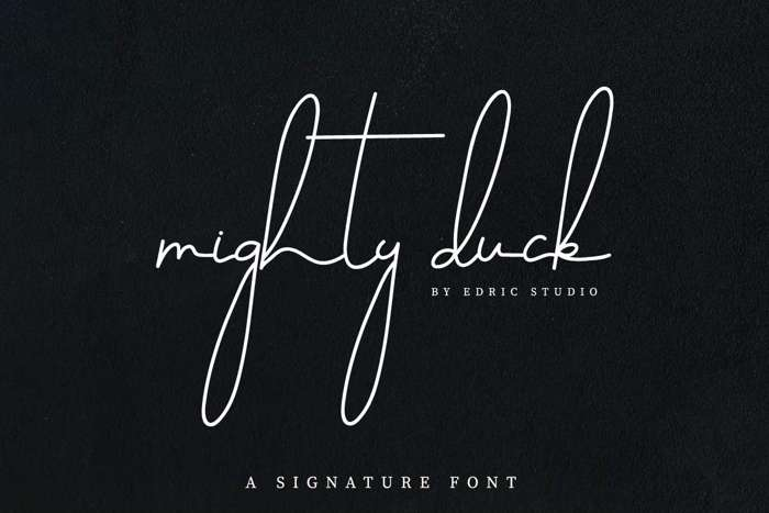 Mighty Duck Font poster