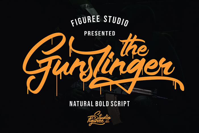 The Gunslinger Font poster