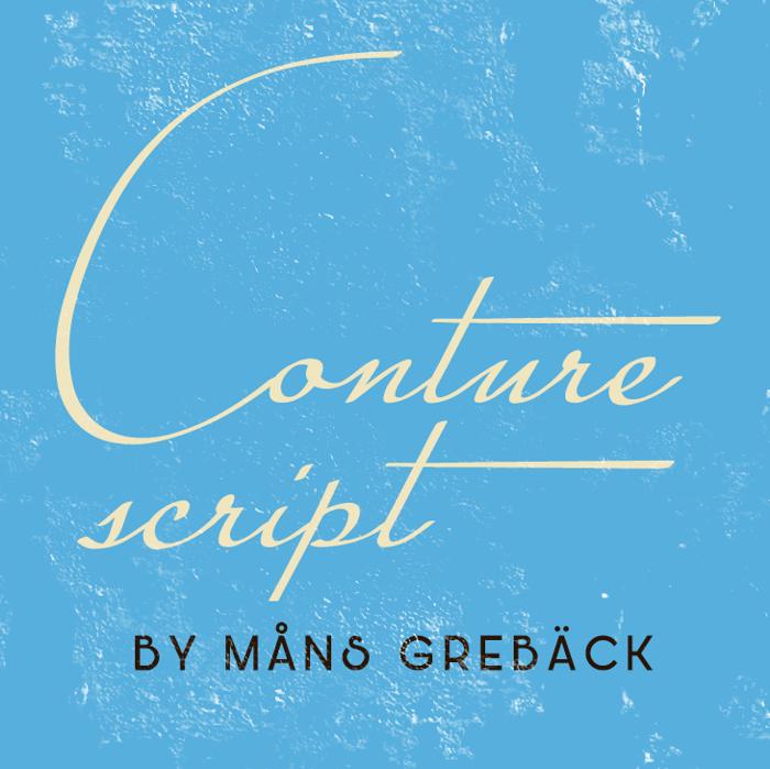 Conture Script Font poster