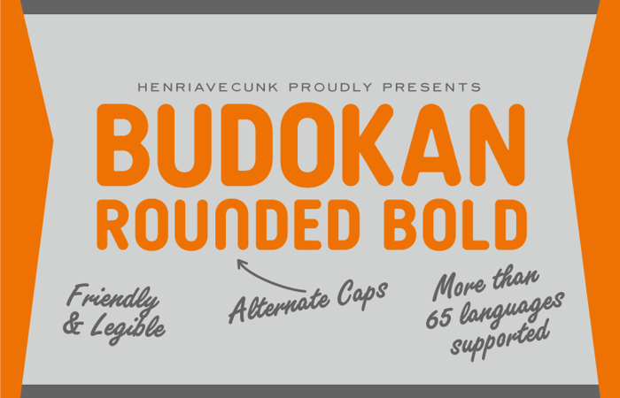 Budokan Rounded Bold Font poster