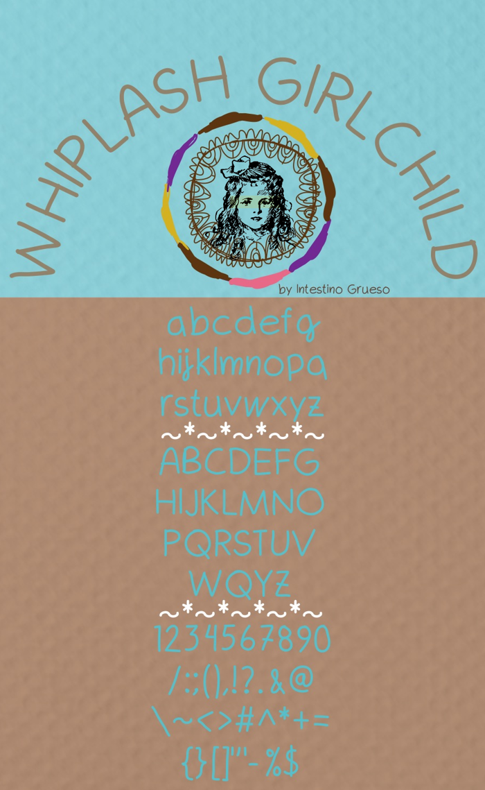 Whiplash girlchild Font poster