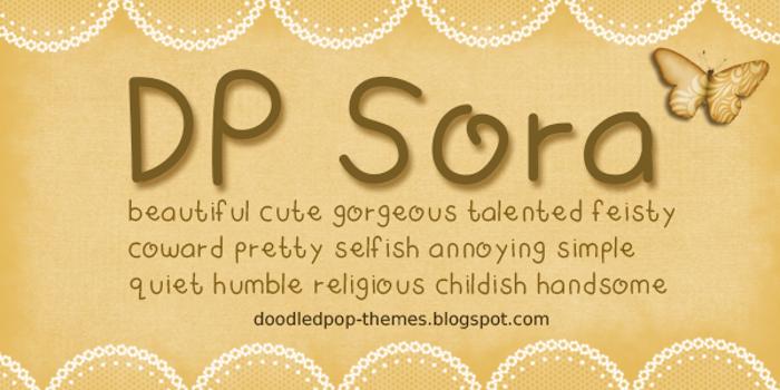 DPSora Font poster