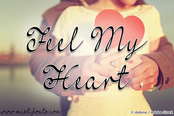 Mf Feel My Heart Font poster
