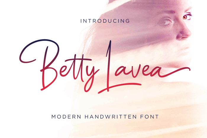 Betty Lavea Font poster