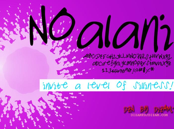 NOALANI Font poster