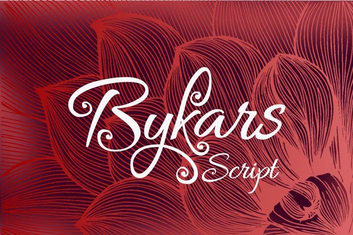 Bykars Font poster