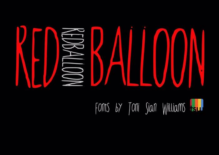 RedBalloon2 Font poster