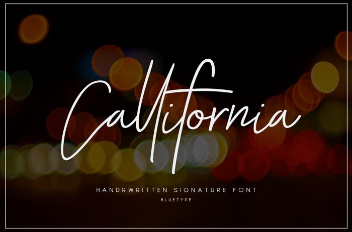 Callifornia Font poster