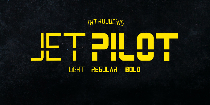 Jet Pilot Font poster