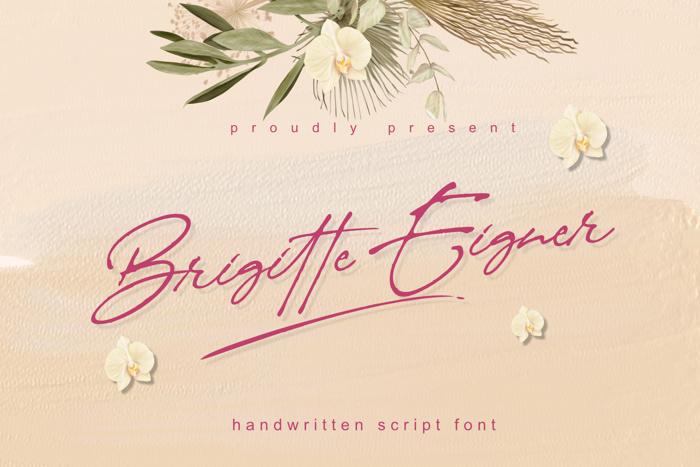 Brigitte Eigner Font poster