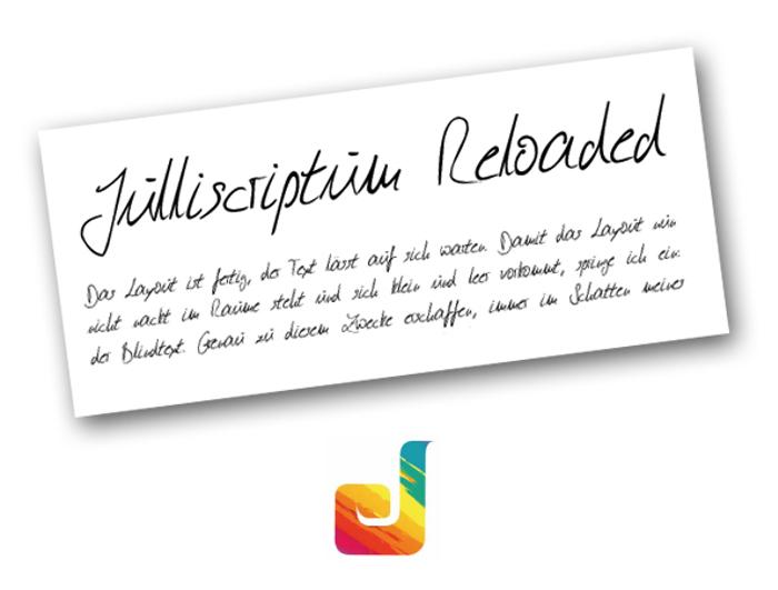 Julliscriptum Reloaded Font poster