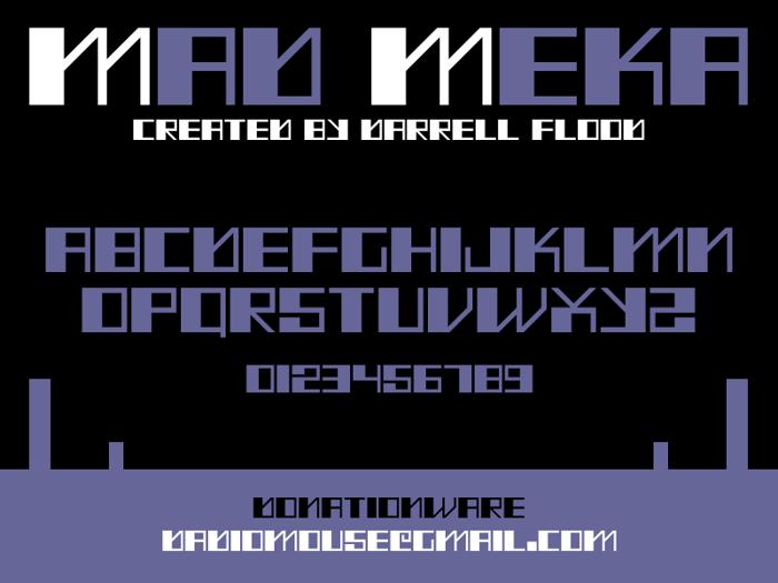 Mad Meka Font poster