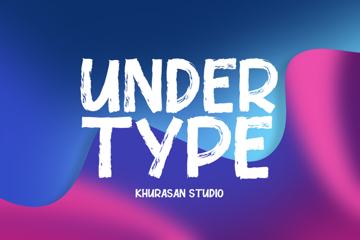 Under Type Font poster