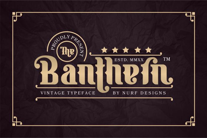 Banthern Font poster