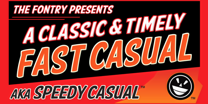 FTY SPEEDY CASUAL NCV Font poster