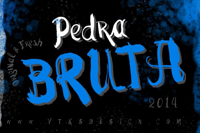 Vtks Pedra Bruta Font poster