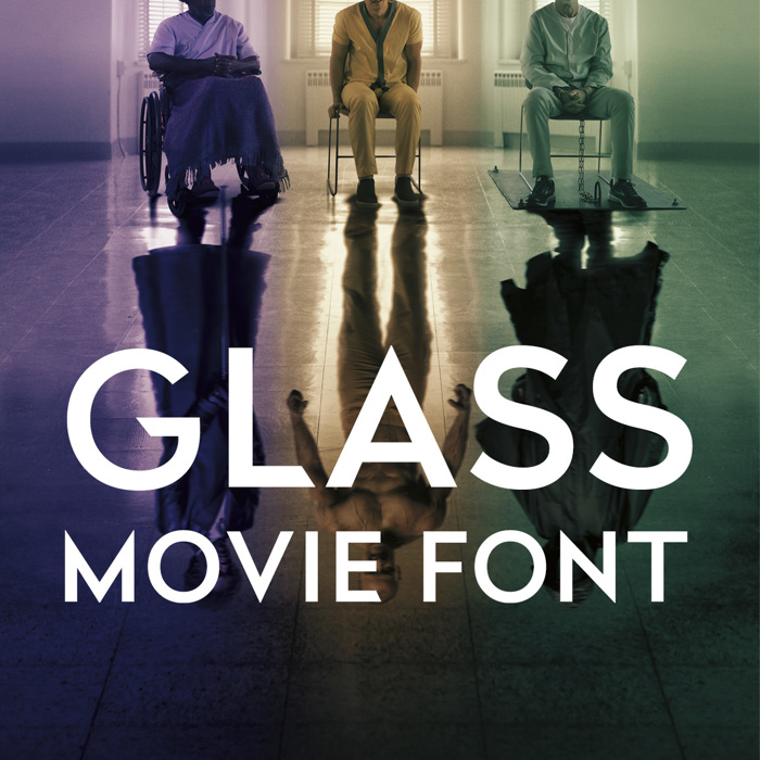 Glass Font poster