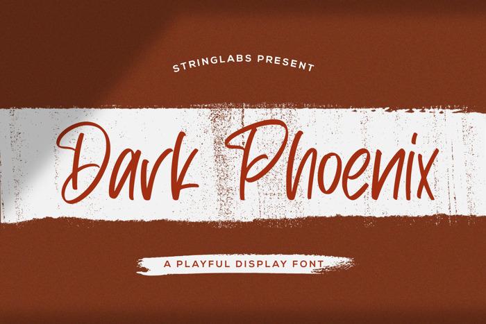 Dark Phoenix Font poster