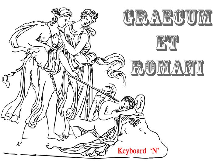 Graecum et Romani Font poster