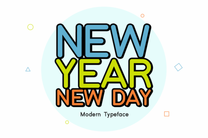 New Year New Day Font poster