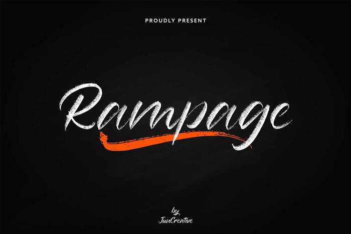 Rampage - for Font poster